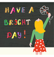 Cartoon with a good day at school - wish on the vector image vector image