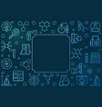 chemistry outline blue frame science vector image vector image