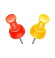 Color pins icon realistic style vector image