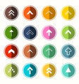 colorful flat arrows arrow in circle set symbols vector image vector image