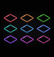 colorful rhombus frames collection lozenge logos vector image vector image