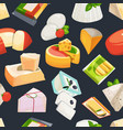 different grades of cheeses seamless vector image vector image