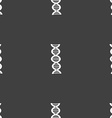 DNA sign Seamless pattern on a gray background vector image vector image
