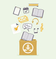 downloading concept icon vector image