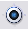 Electronic Dial Timer 15 Seconds vector image