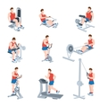 Exercise Machines Set vector image vector image