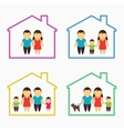 Family home icons set vector image