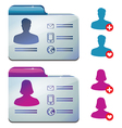 Female and male profile for social media vector image