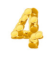 font style made of golden coins coin vector image