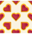 Golden Heart Pattern vector image vector image