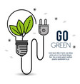 green eco bulb light vector image vector image