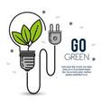 green eco bulb light vector image