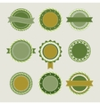 Green vintage badges templates vector image vector image