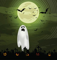 halloween ghost background 0609 vector image vector image