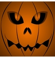 Halloween scary pumpkin face vector image