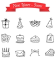Hand draw element New Year of icons vector image vector image