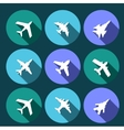 icons airplanes vector image vector image