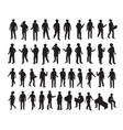 isometric 3d set silhouettes