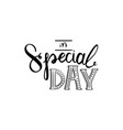 its special day vector image vector image