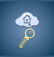 Key with trinket vector image vector image