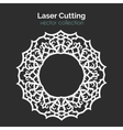 Laser Cutting Template Round Card Die Cut vector image vector image