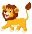 Lion cartoon walking vector image vector image