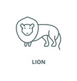 lion line icon linear concept outline vector image vector image