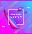 liquid background gradient fluid shapes vector image