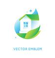 logo design template in bright green gradient vector image vector image