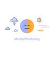 mental health bipolar disorder concept vector image