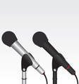 Microphone black and silver vector image
