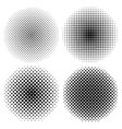 monochrome circle halftone collection vector image