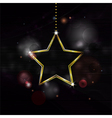 neon Christmas star decoration bakground vector image vector image