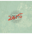 new year 2015 vintage styled design vector image vector image