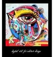 original contemporary digital painting bird vector image vector image