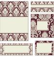 ornate damask frame set vector image vector image