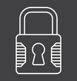 padlock line icon security and lock vector image vector image