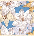 pattern of the garden lilies vector image vector image