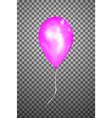 pink air balloon eps10 vector image vector image