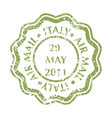 postal stamp from italy vector image vector image