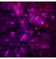 purple abstract techno background with hexagons vector image