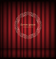 red curtains and vintage round frame with space vector image vector image