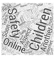 safety for children Word Cloud Concept vector image vector image