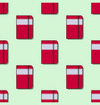 seamless school pattern with red notebooks flat vector image vector image