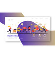 seasonal discount website layout with flat people vector image vector image