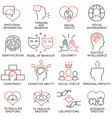 Set of icons related to business management - 19 vector image vector image