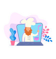 shef videoblogger presents culinary videos about vector image vector image