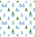 Snowballs seamless vector image