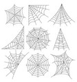spider web icons photo realistic set vector image vector image