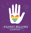 spirit day violet purple color poster vector image